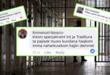 Jail time Malta social network