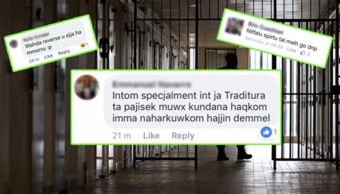 Jail time Malta social network