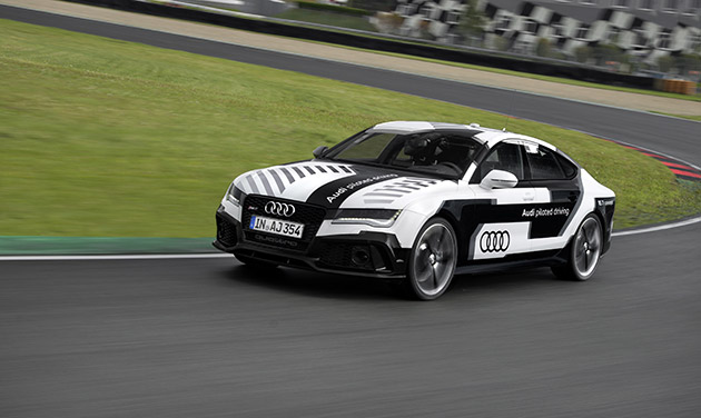 Audi's self-driving RS 7