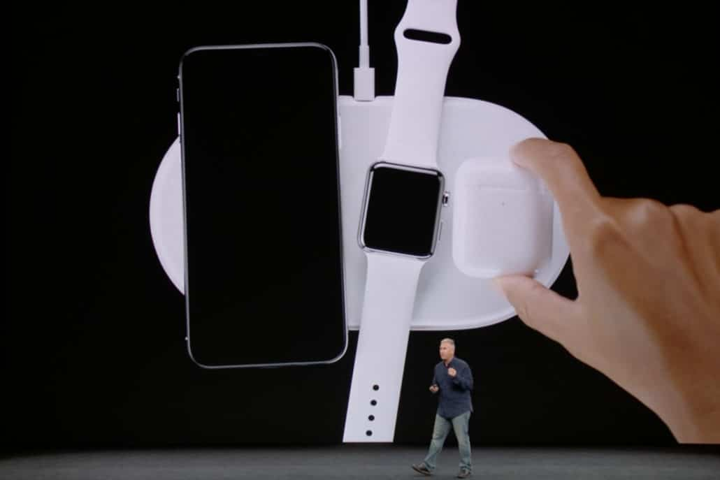 The wireless charging Mat for the new Apple devices.