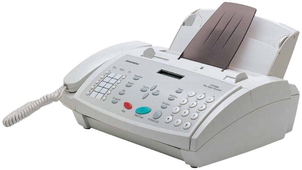 obsolete household item - fax machine