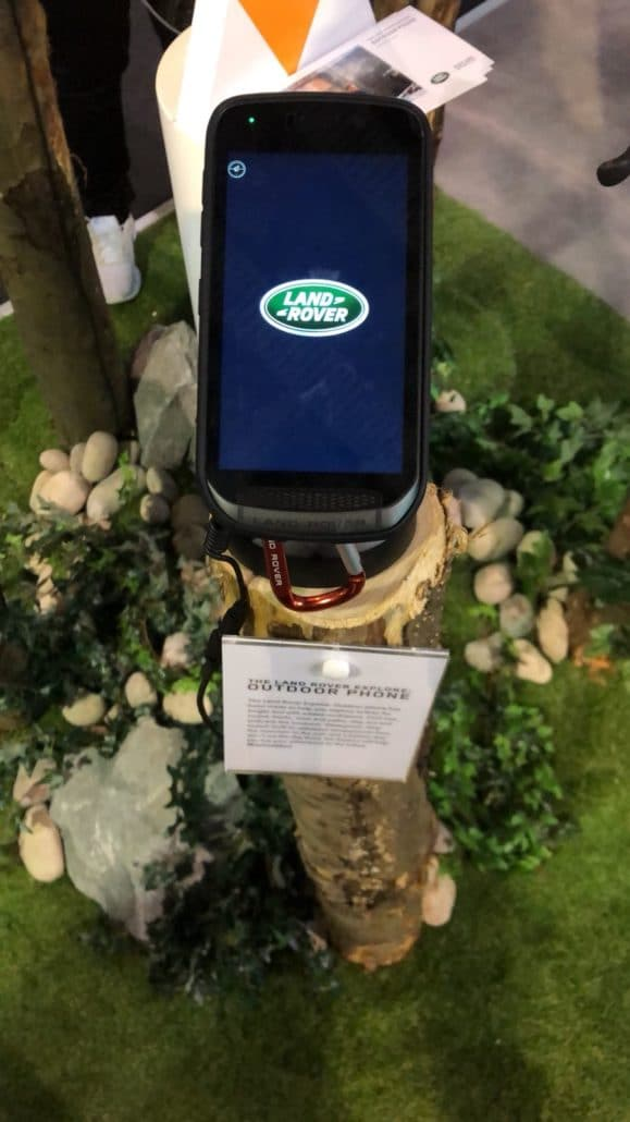 land rover phone at Mobile World Congress