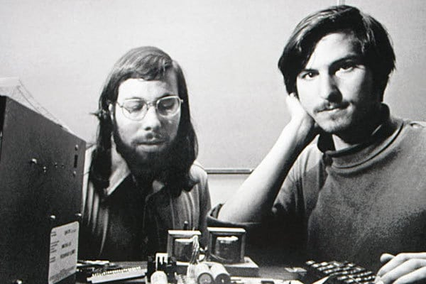 Steve Wozniak The Woz (left) and Steve Jobs