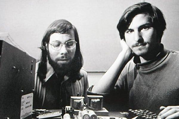 Steve Wozniak The Woz (left) and Steve Jobs