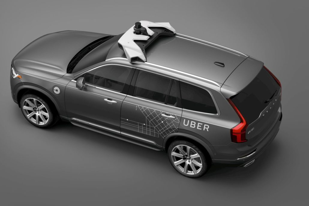 uber volvo self-driving car