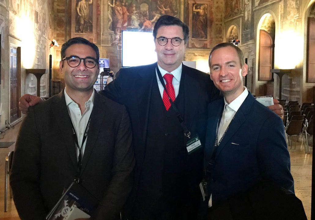 Dr. Gatt with Google's President Carlo d'Asaro Biondo, and Longbeard's CEO Matthew Sanders