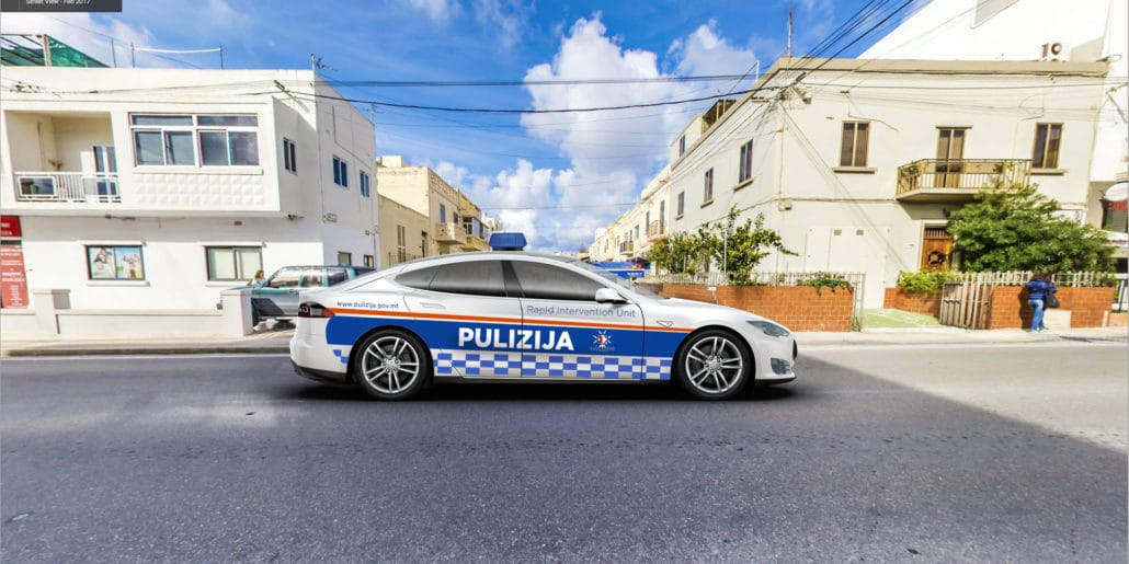 What The Maltese Police Would Look Like Driving A Tesla Gadgets Malta