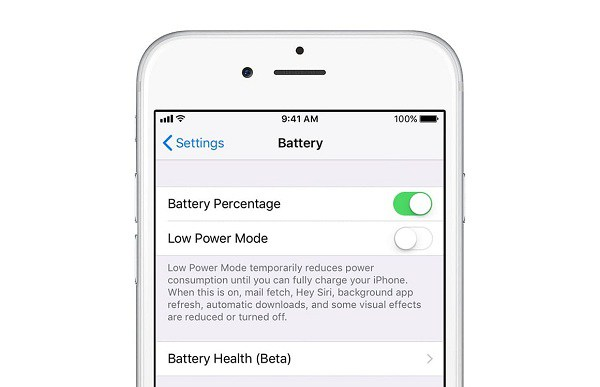new Battery Health option coming to iOS 11.3
