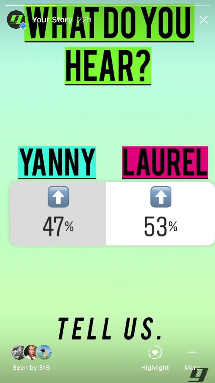 yanny laurel internet meme