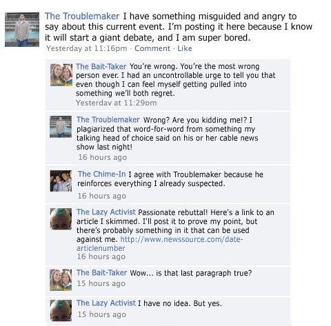 facebook fight argument