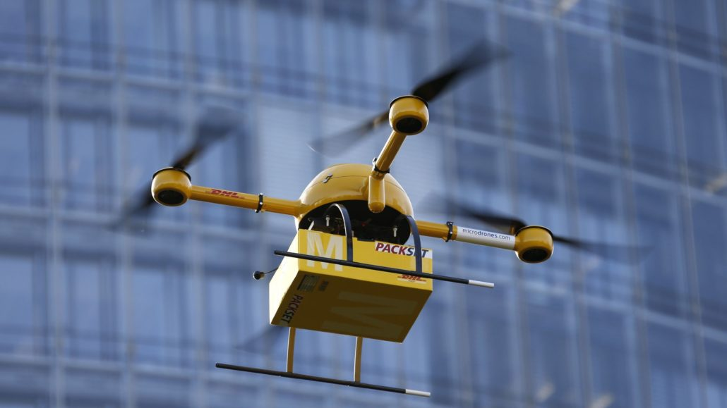 self drive drone package delivery