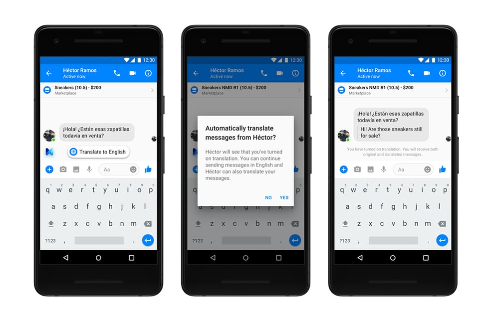 Facebook now translates for you in real time