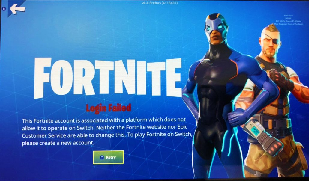 Fortnite nintendo switch PS4 Live