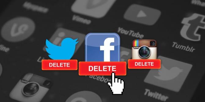 delete social media apps