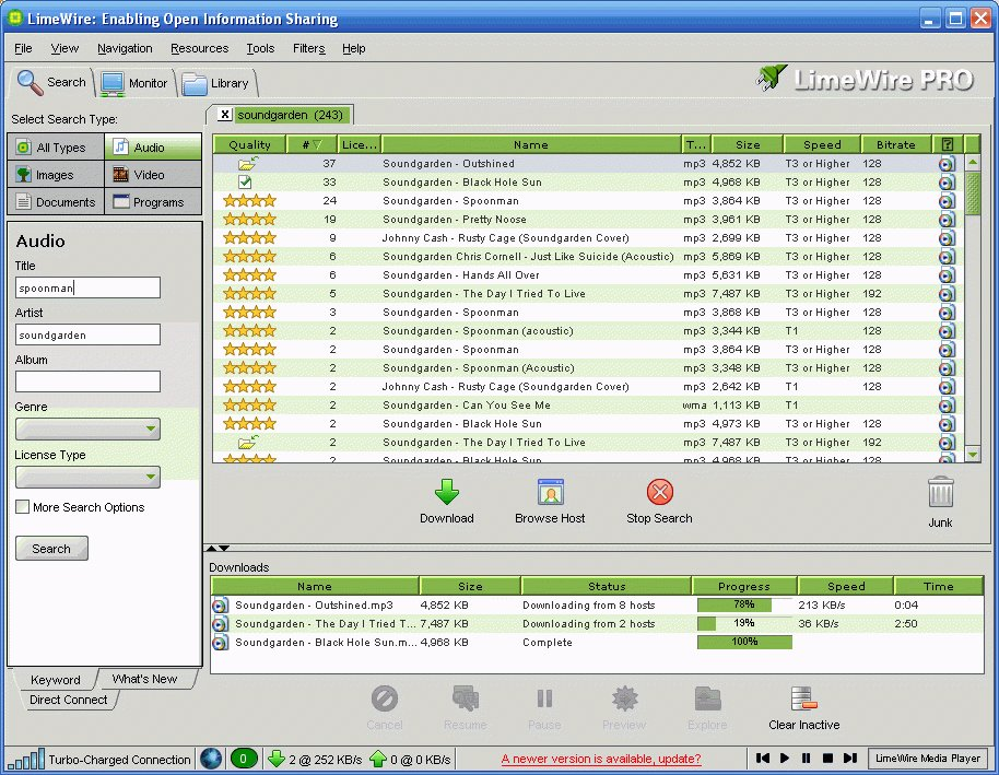 limewire file sharing