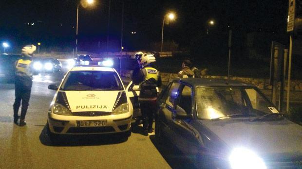road block malta