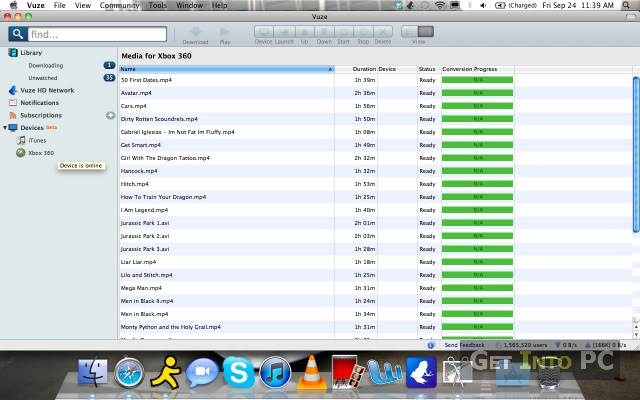 vuze download mac file sharing