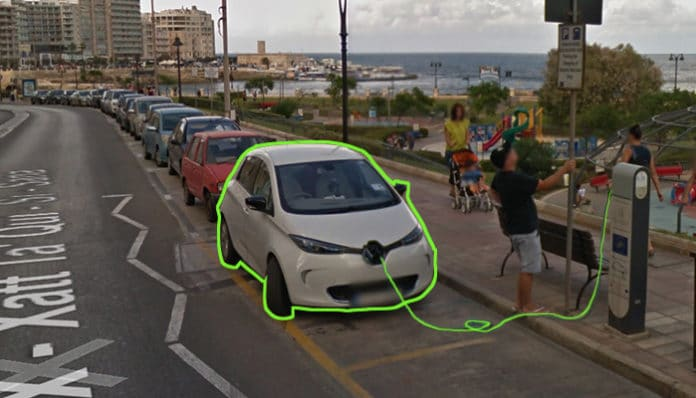 electric car charger in Sliema Malta public