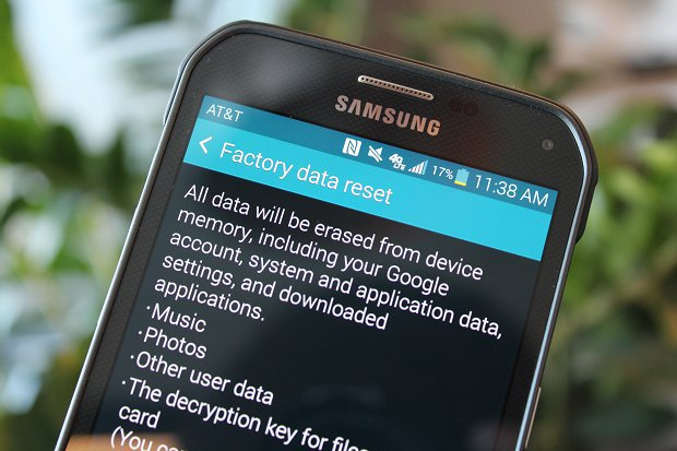 factory reset your phone