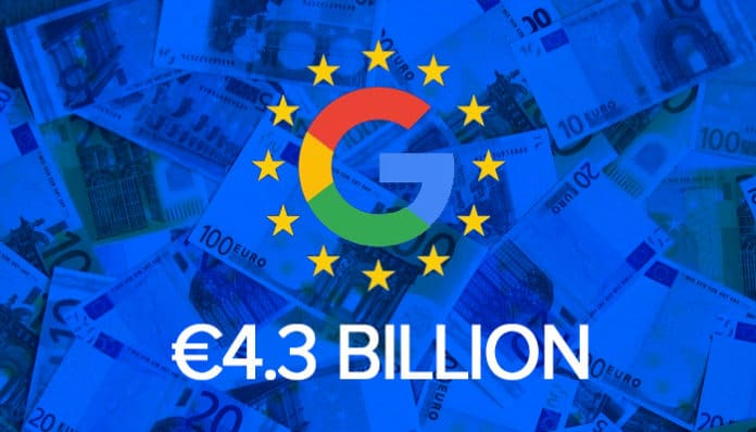 google 4.3 billion fine