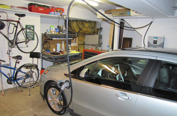 electric vehicle charge home garage