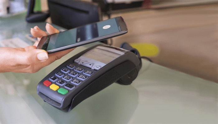 Using Android Pay with a Card Machine