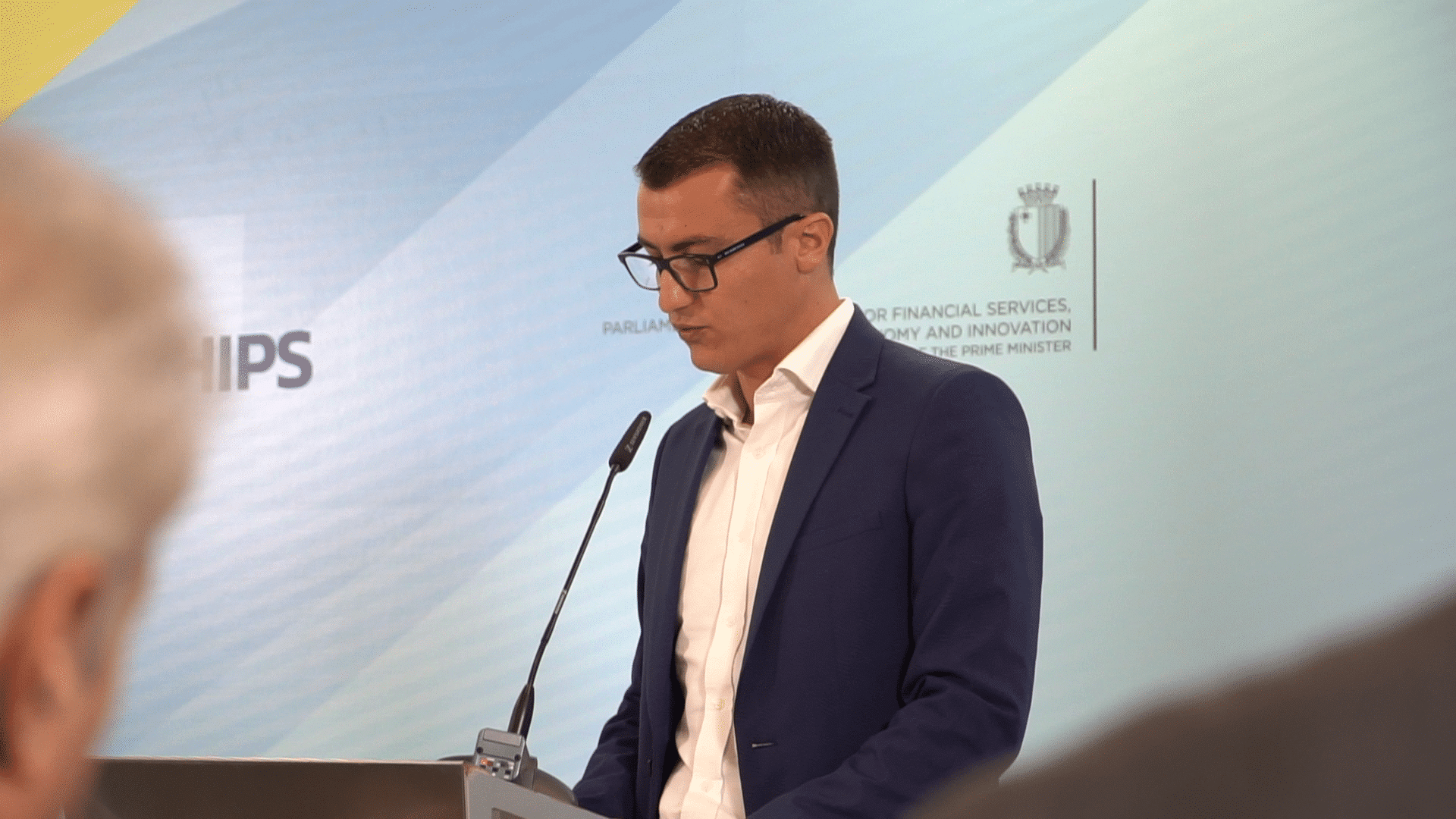 Silvio Schembri Speaking at the MOU