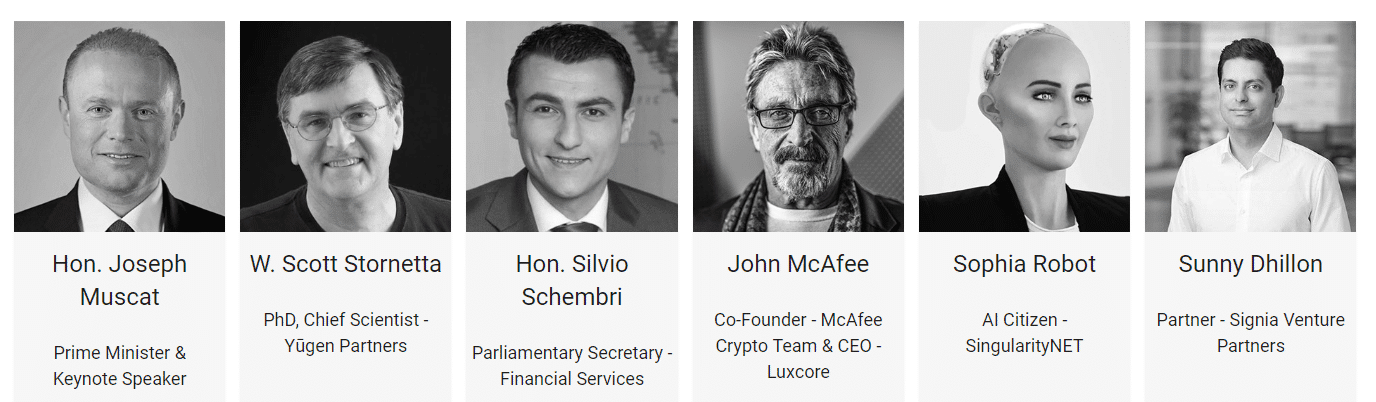 Speakers at the Malta Blockchain Summit